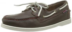 Sebago Men's Docksides Casual SlipOn Leather Boat Shoes Dark Brown/White