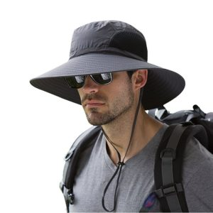 Wide Brim Sun Hat, Outdoor Sunscreen Waterproof